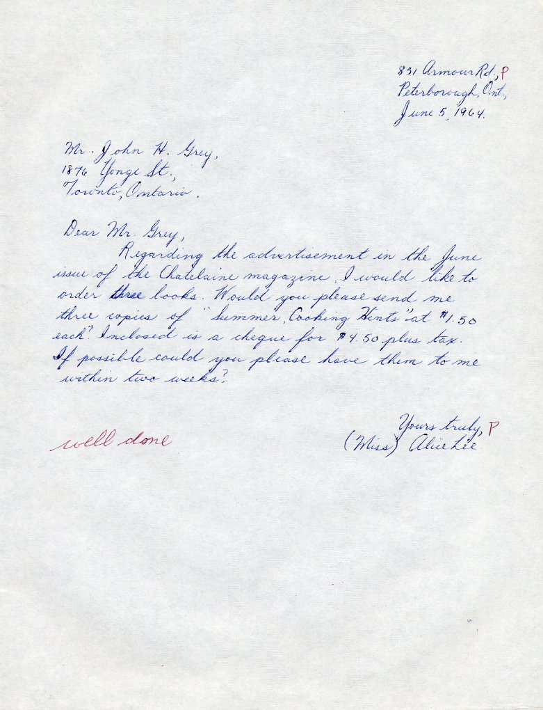 1964 grade 8 example of ink pen writing and letter style spiritdancerdesigns Choice Image